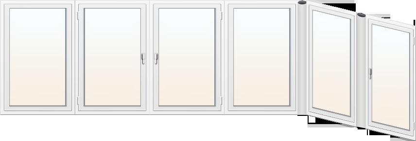 Балконное пластиковое окно 2
