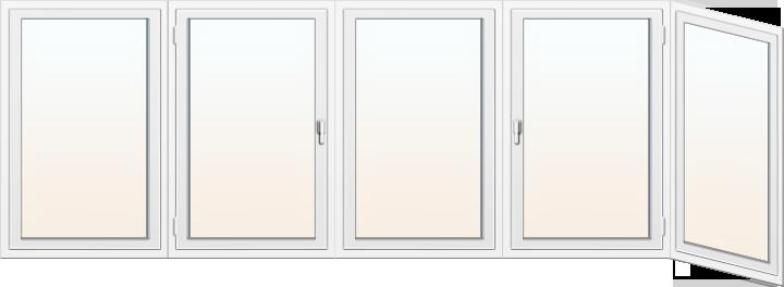 Балконное пластиковое окно 1
